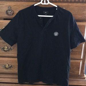 Lg slim fit Obey shirt, black